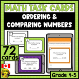 Ordering and Comparing Numbers | Paper or Digital Task Cards