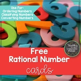 Ordering and Comparing Rational Number Cards