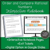 Compare and Order Rational Numbers Math Notebook Page