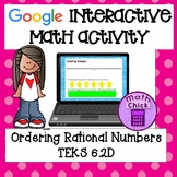 Ordering and Comparing Rational Numbers TEKS 6.2D Google Interactive