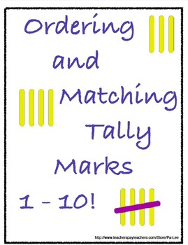 Ordering and Matching Tally Marks