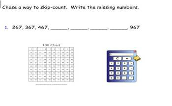 Ordering and comparing Three Digit Numbers SmartBoard file
