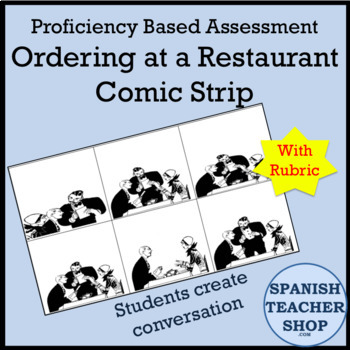 Ordering at a Restaurant Comic Assessment