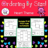 Valentines: Ordering by Size B&W