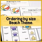 Ordering by size, Kindergarten math activity.
