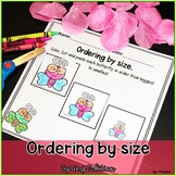 Ordering by size! | math center activities.