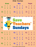 Ordering Fractions Using a Fractions Wall Worksheets (4 levels of difficulty)