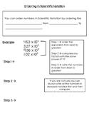 Ordering in Scientific Notation