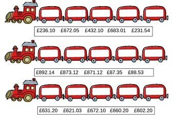 Ordering money to £1000