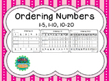 Ordering numbers 1-5 and 1-10 and 10-20