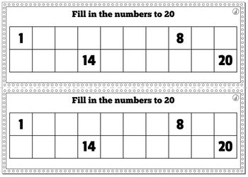 Ordering Numbers to 20 No Prep Worksheets