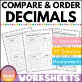 Ordering / Comparing of Decimals