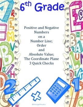 Ordering of Rational Numbers and The Coordinate Plane Quick Checks