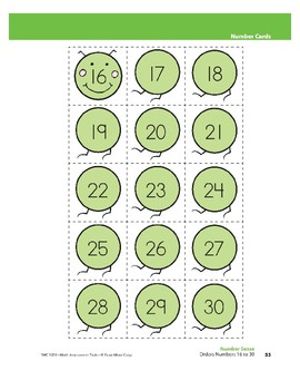 Orders Numbers 16 to 30 (Number Sense)
