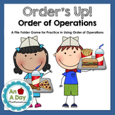 Order's Up: A File Folder Game on Order of Operations {CCSS 5.OA.1}