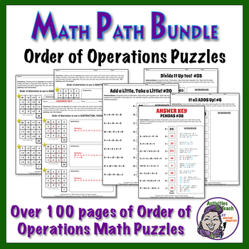 Orders of Operations MATH Back to School Super Saver Bundle