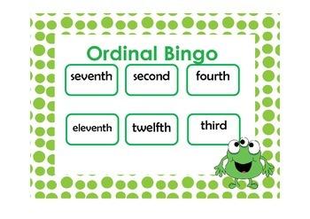 Ordinal Bingo and Ordinal Match