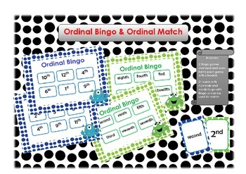 Ordinal Bingo and Ordinal Match