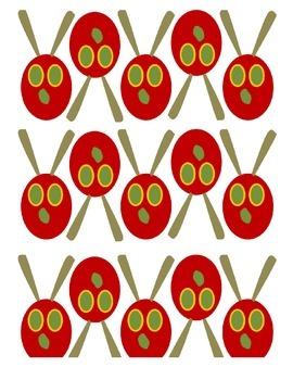 Ordinal Counting. Very Hungry Caterpillar.