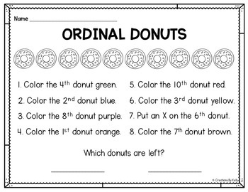 Ordinal Number Posters and Activities