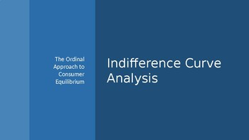 Ordinal (Indifference Curve) Approach to Consumer Equilibrium
