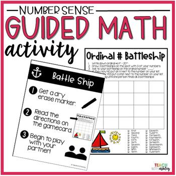 Number Sense Guided Math Activity Ordinal Number Battleship