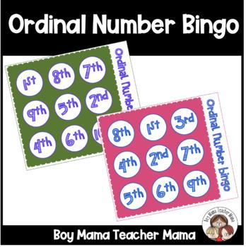 Ordinal Number Bingo