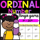 Ordinal Number Bingo Game - 1st to 20th