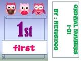 Ordinal Number Cards 1-31