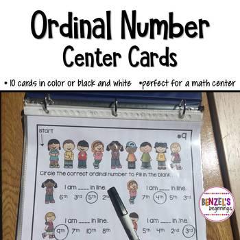 Ordinal Number Center Cards
