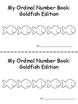 Ordinal Number Emergent Reader: Goldfish Edition