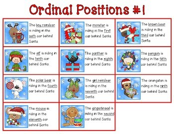 Ordinal Number Express! {a one-time prep ordinal numbers math lesson}
