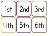 Ordinal Number Flash Cards 1 - 60