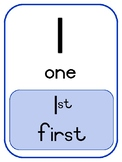Ordinal Number Flash Cards