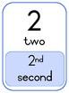 Ordinal Number Flash Cards