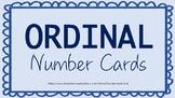 Ordinal Number Lanyard Cards