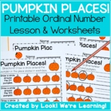 Ordinal Number Lesson - Pumpkin Places!