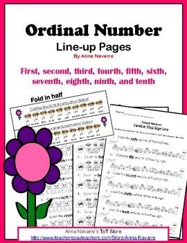 Ordinal Number Line-up Pages