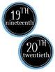 Ordinal Number Mini Posters