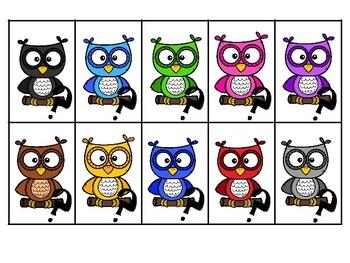 Ordinal Number Owls