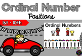 Ordinal Number Power Point - 1st to 10th - Race cars