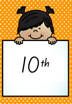 Ordinal Number Posters 1-10 - Numeral and Word