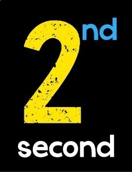 Ordinal Number Posters {Black Series}