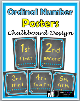 Ordinal Number Posters
