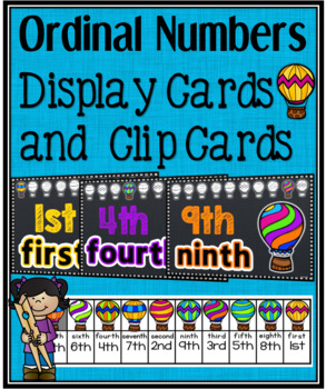Ordinal Number Posters and Clip Cards