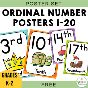 Ordinal Number Posters and Flashcards