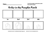 Ordinal Number Pumpkins Cut and Paste