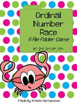 Ordinal Number Race - A File Folder Game
