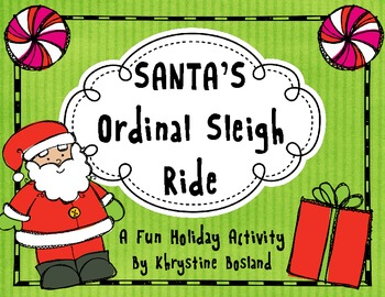 Ordinal Number Sleigh Ride - A Holiday/Christmas Activity