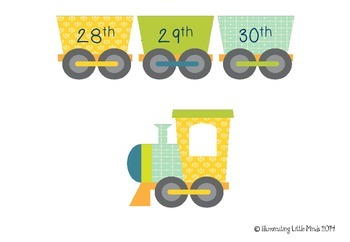 Ordinal Number Train {Daily Practice} Print and Laminate